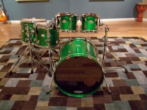 3rd custom drum set i built