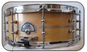 Custom Snare drum with scrapbook paper inlay