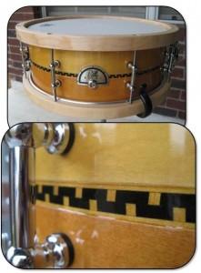 Custom Snare drum inlay strip