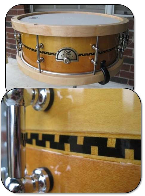 """Featured image for """"How to Make an Inlay Jig for your Router Table and Cut/Install Perfect Inlay on your Custom Drum Set!"""""""