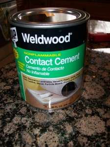 dap Weld wood non flamable contact cement
