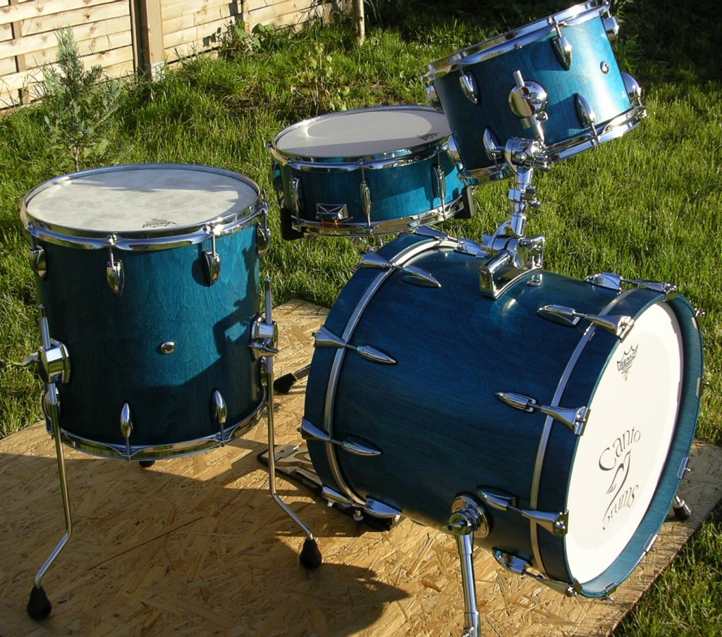 The first custom drum set that bart made