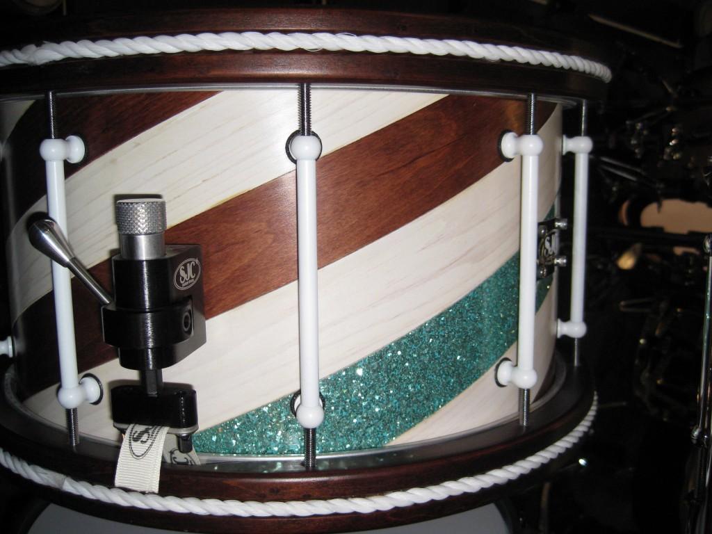 Striped SJC Snare Drum