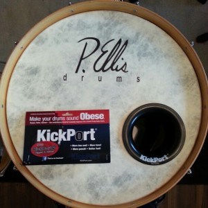 Kickport Installed on my Bass Drum
