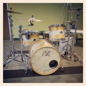 Kickport on custom drum set