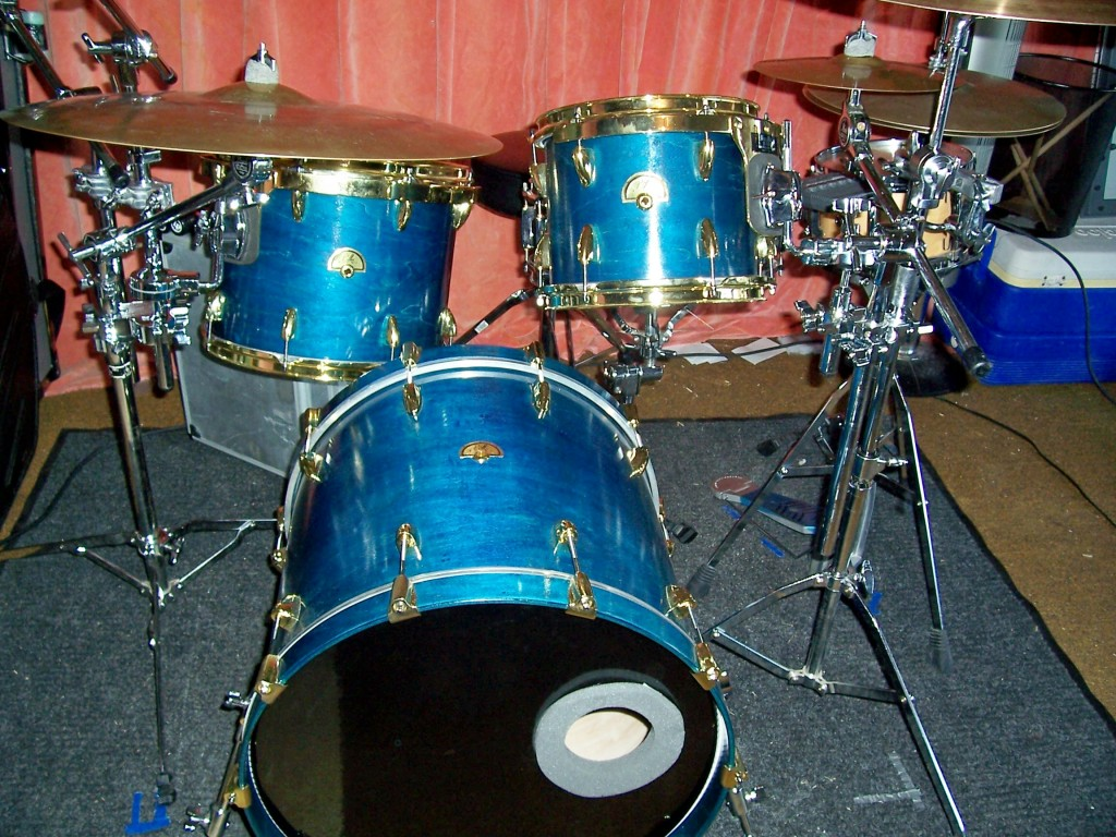 The first custom drum set that I built