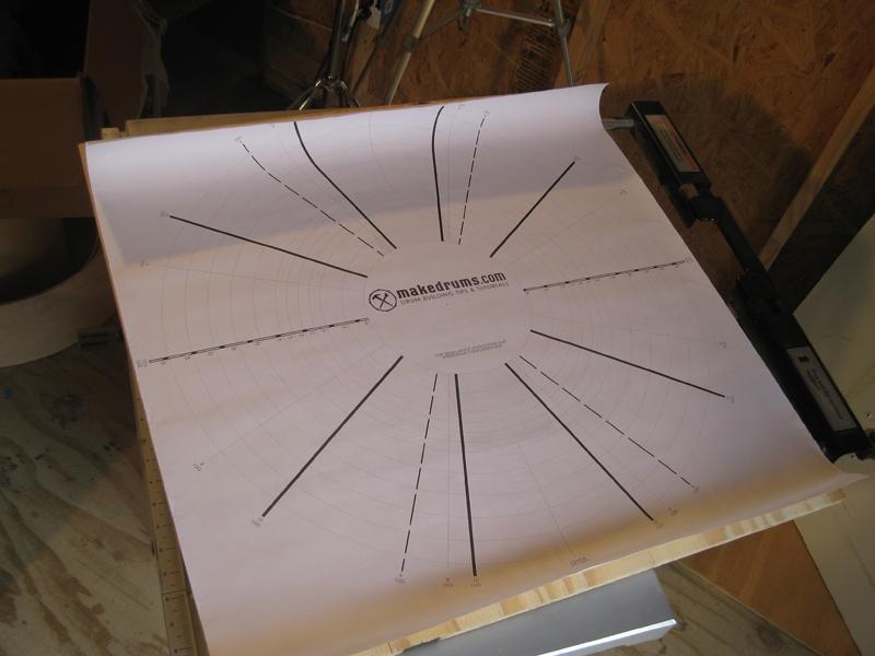 Test fit drum layout mat