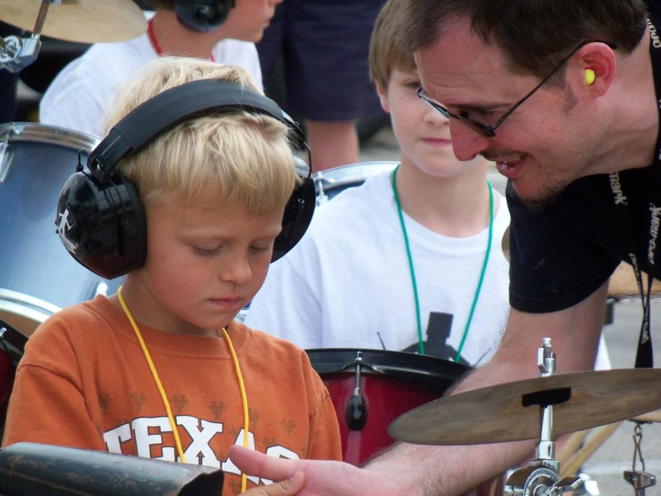 drum lessons teacher student