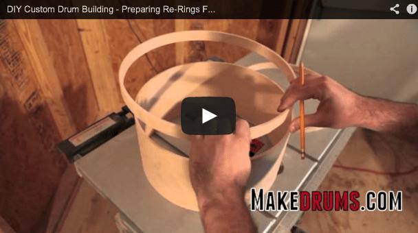 preparing re-rings for glue