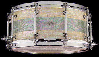 paua shell custom drum