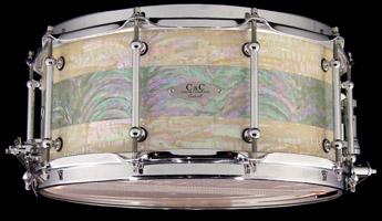 paua shell custom drum